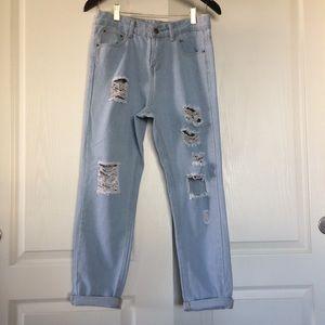 Pants - High rise boyfriend distressed jeans